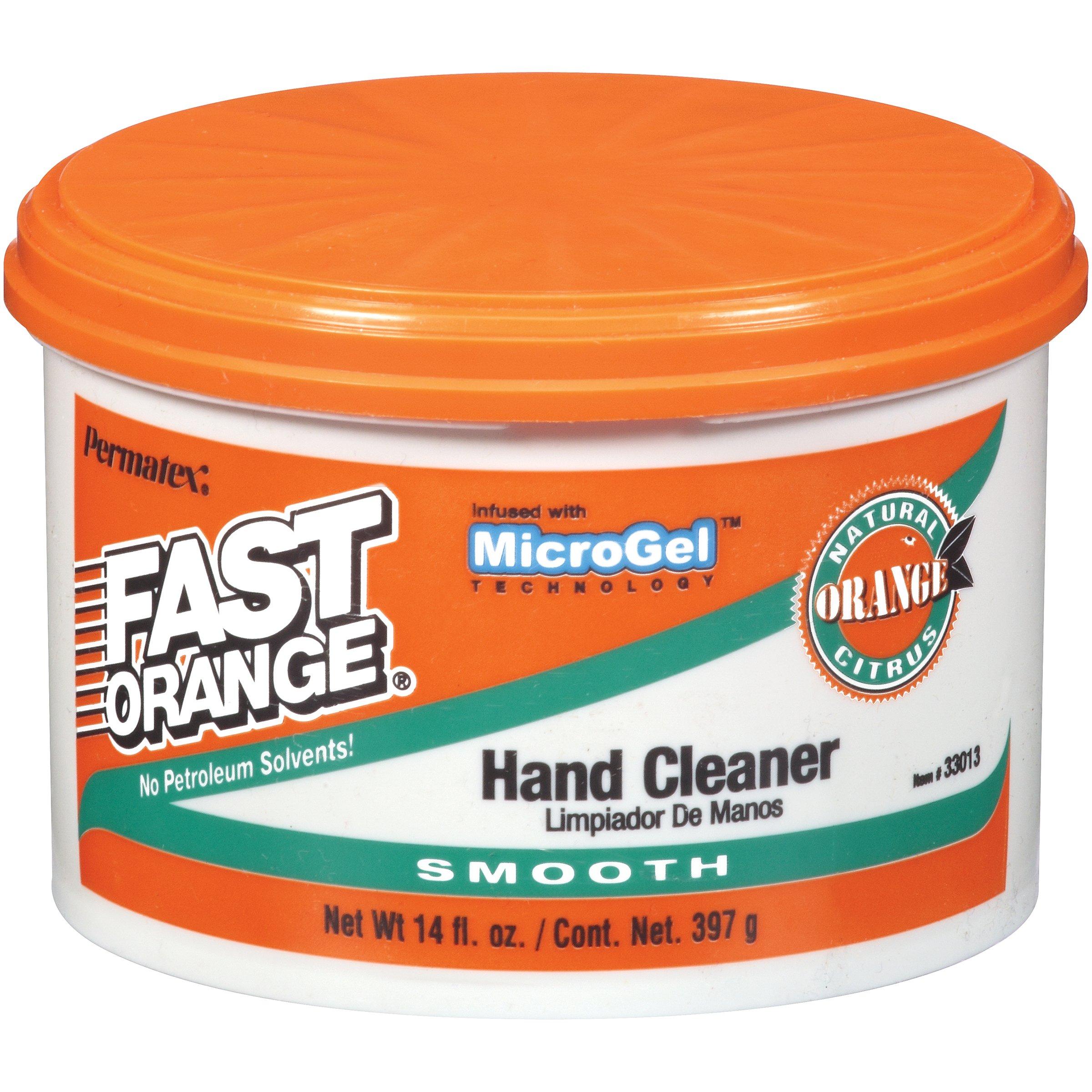 Permatex 33013 Fast Orange Smooth Cream Hand Cleaner, 14 oz.