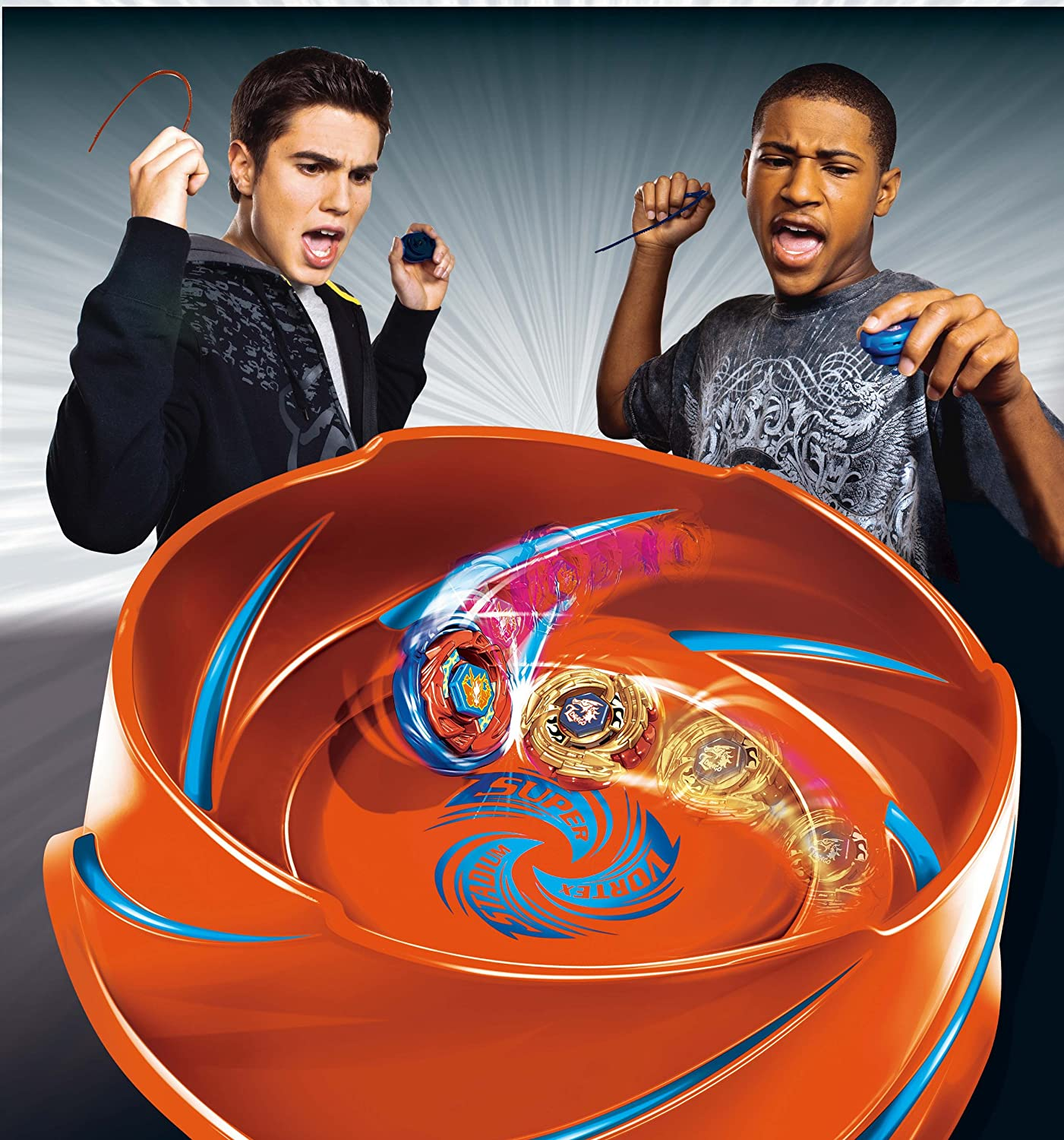 Amazon BEYBLADE METAL FUSION SUPER VORTEX BATTLE ARENA SET