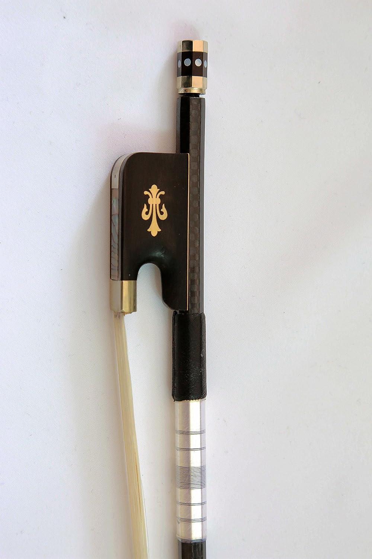 Vio Music #680 Full Size 4/4 Cello Bow Braided Carbon Fiber-best Gift for Cellist Vio-7817