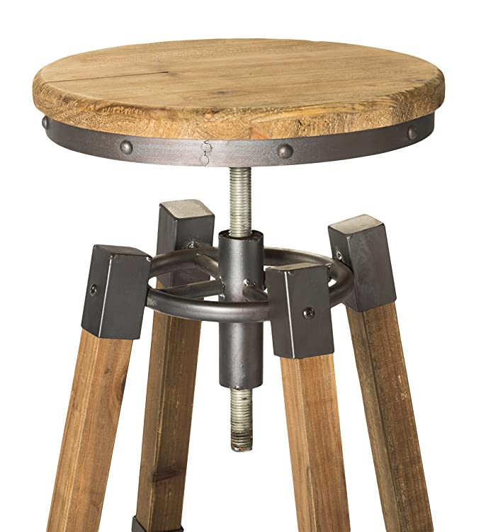 Amazon.com: Moes Home Collection Quad Pod Adjustable Bar Stool, Natural: Kitchen & Dining