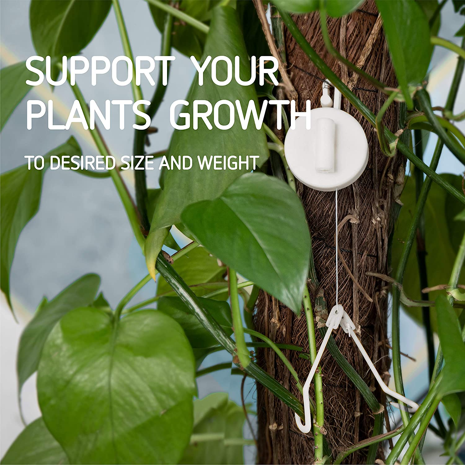 VIVOSUN Retractable Plant Yoyo with Stopper for Grow Support in Tent Garden and Hydroponics Pack of 12