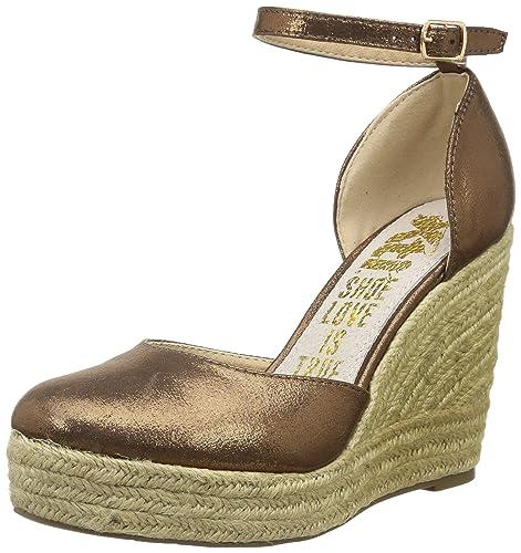 Xti 27716 - Alpargata Plana Mujer, Color marrón, Talla 36: Amazon.es: Zapatos y complementos
