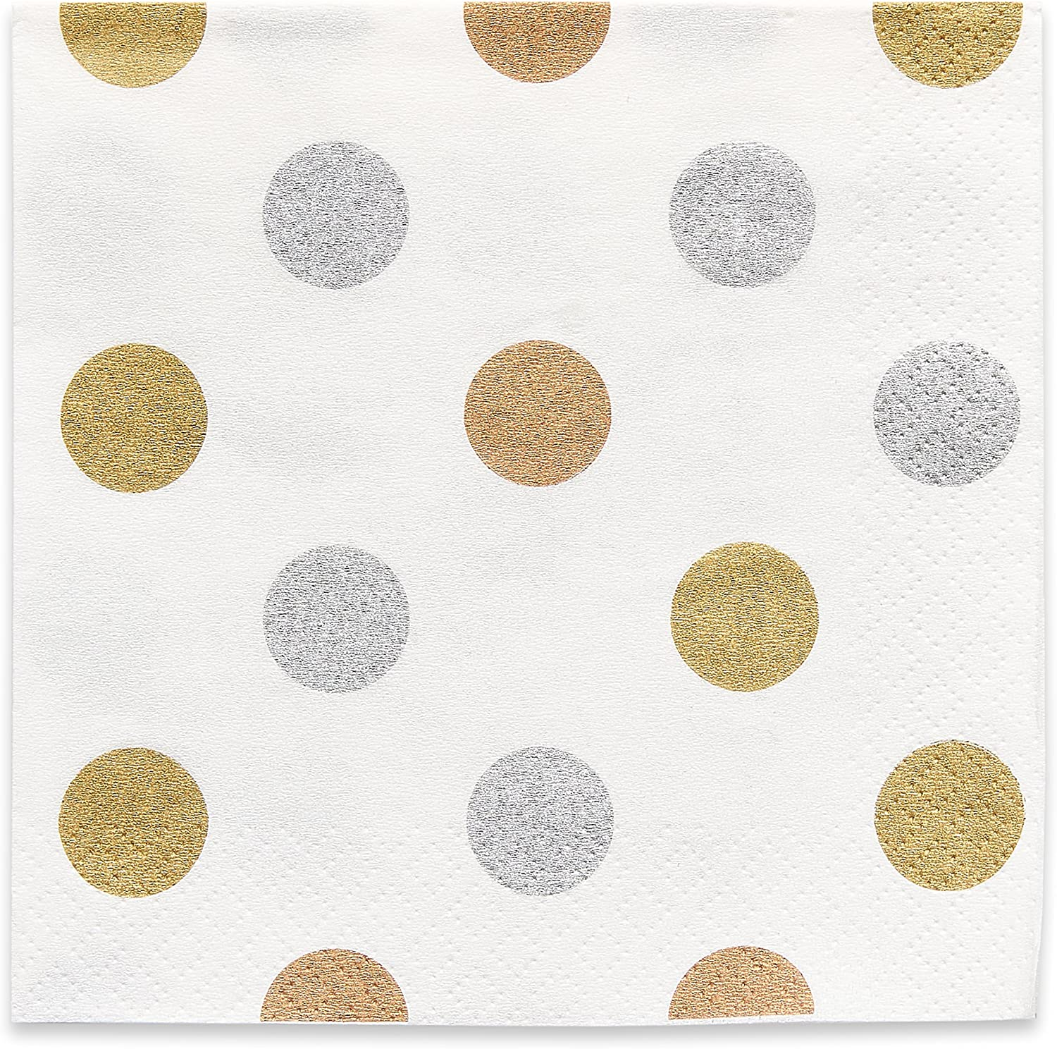 American Greetings Metallic Dots Party Supplies, Beverage Napkins (16-Count)