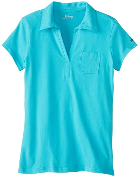 2e997a083ad Columbia Womens Shadow Time Polo T-Shirt-Red Hibiscus
