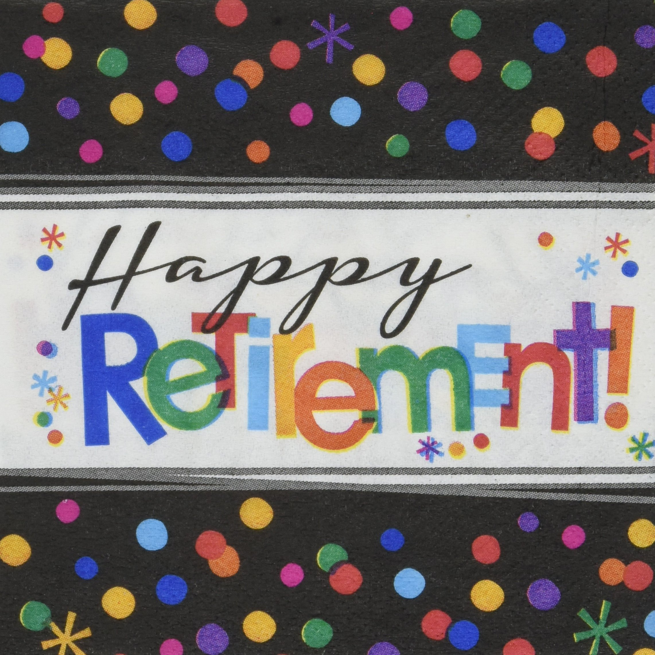 Amscan ''Happy Retirement'' Beverage Party Napkins, 192 Ct.