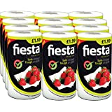 Fiesta Kitchen White Towel (Pack of 12, Total 1200 Sheets)
