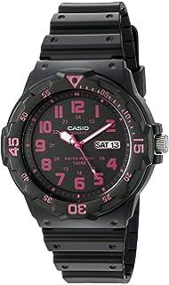 Casio Mens Classic Quartz Resin Watch, Color:Black (Model: MRW200H