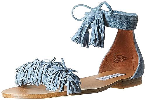 86020cf756c Steve Madden Womens Sweetyy Fringe Flat Sandal Shoes