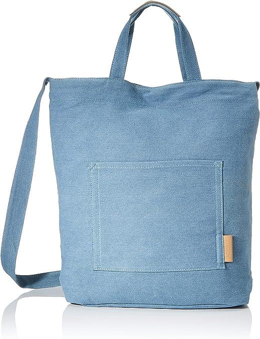 Tom Tailor Denim Umhängetasche Damen Blau Palma 37x11 5x39 Cm Shopper Medium Handtasche Leinenoptik Schuhe Handtaschen