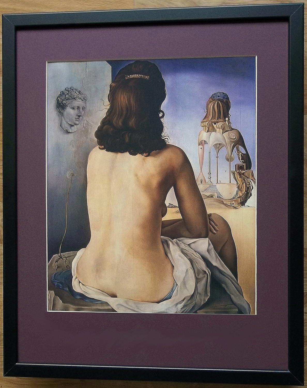 Montato e Surreale stampa incorniciata, 50,8x 40,6cm con cornice, my Wife nude Dali 8x 40 6cm con cornice framed print