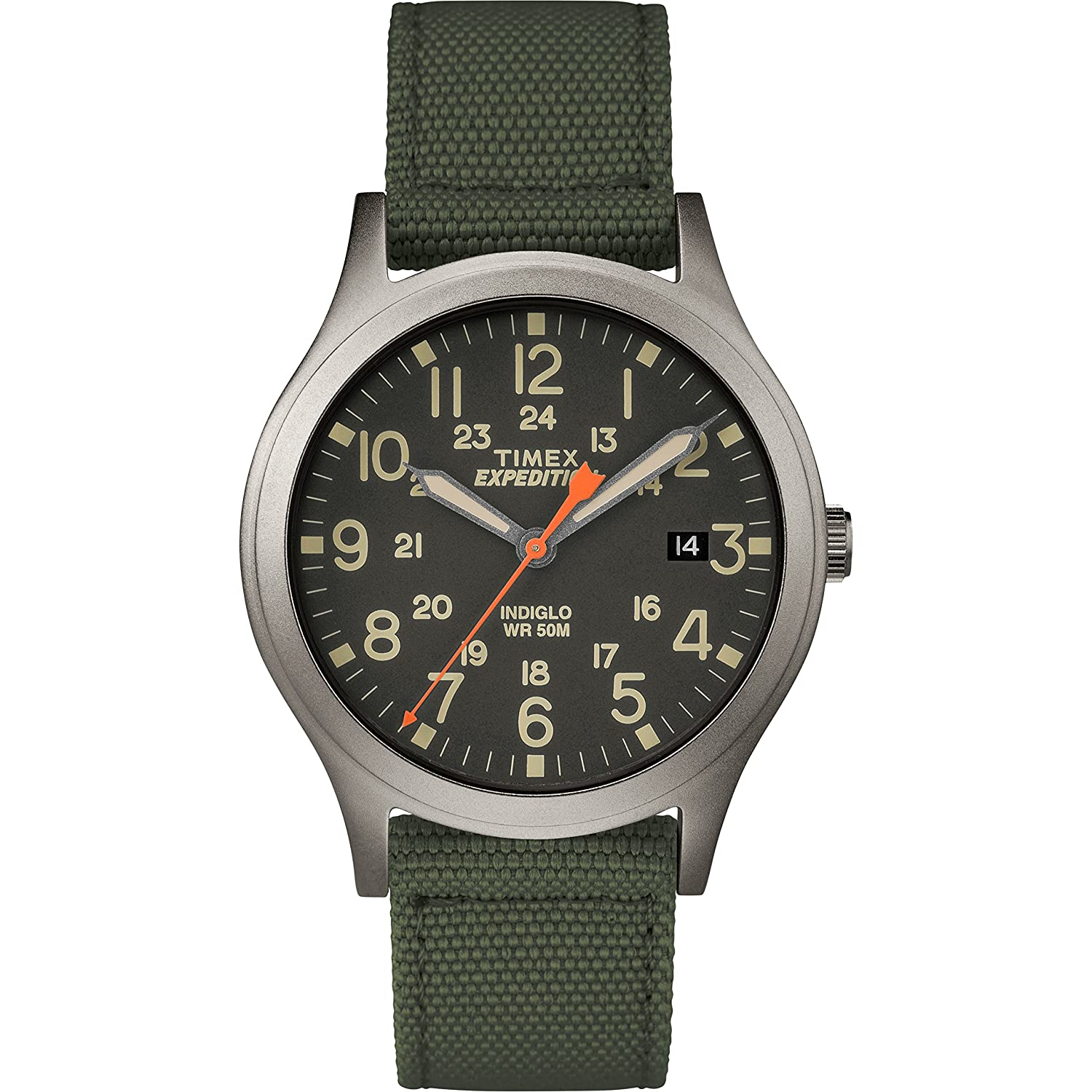 Timex Unisex Tw4 B13900 Expedition Scout 36 Green/Black Nylon Strap Watch by Timex