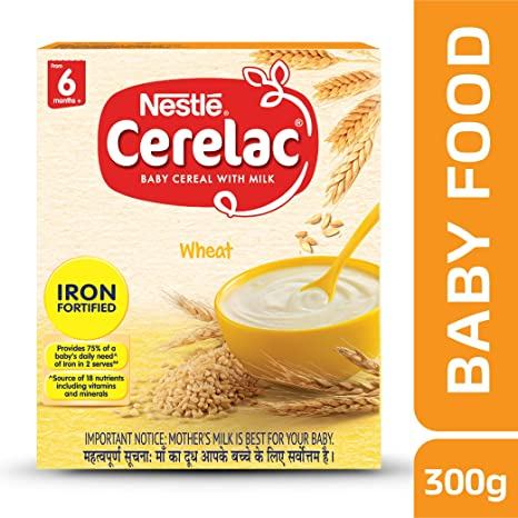 Buy nestle cerelac fortified baby cereal with milk wheat from 6 nestle cerelac fortified baby cereal with milk wheat from 6 months 300g pack ccuart Images