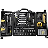 Fuller Tool 997-8160 160-Piece Home Repair Kit Set Hands Tools Sets Wrench sockets Key Kits hex Keys Mechanic Gifts for Men o