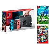Nintendo Switch Console Rosso neon/Blu neon 32 GB + Super Mario Odyssey + Zelda Breath of the wild