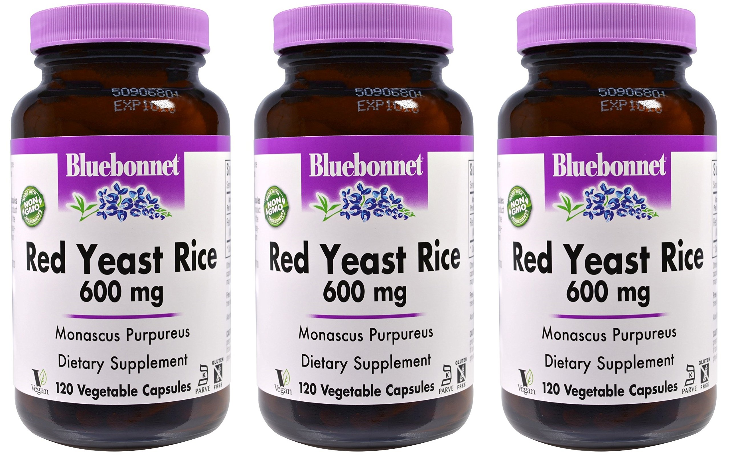 Red Yeast Rice 600mg 120vcaps 3-Pack