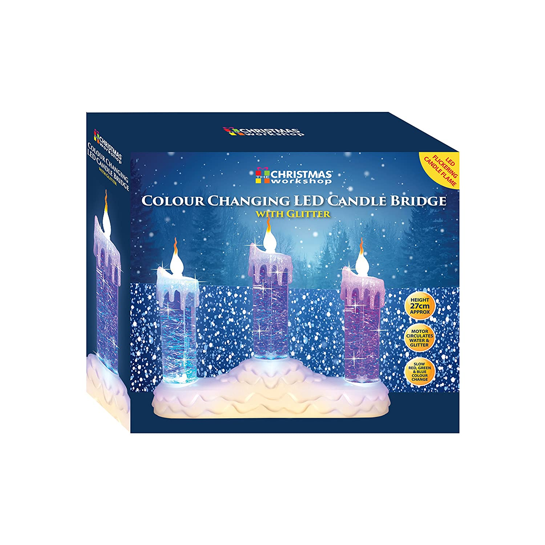 The Benross Christmas Workshop 3 LED Water Candle Bridge Light ...