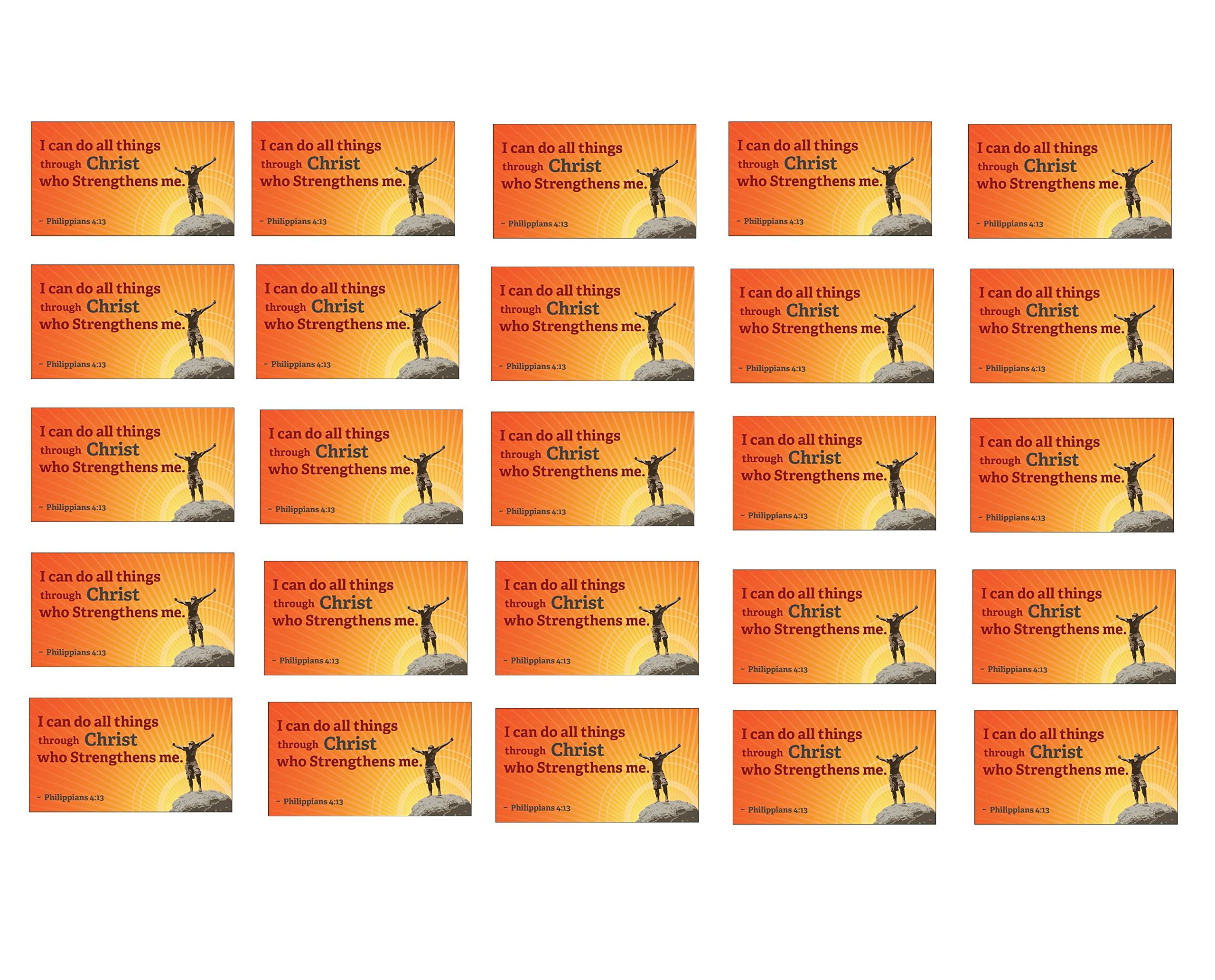 Philippians 4:13 Christian Magnets - Set of 25. Bible Verse,''I can do all things through Christ who strengthens me.''