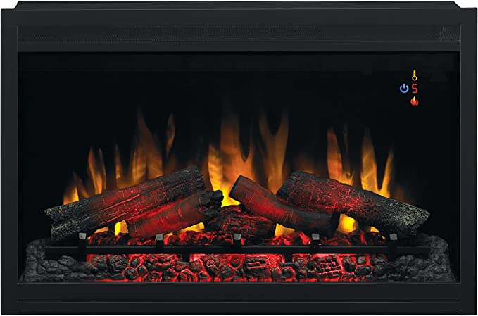 Traditional Built-in Electric Fireplace Insert
