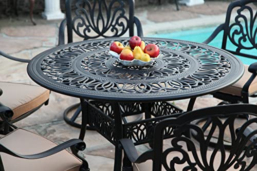 GrandPatioFurniture.com CBM Patio Elisabeth Collection Cast Aluminum 5 Piece Butterfly Dining Set