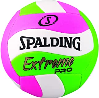 Spalding Extreme PRO Wave Volleyball, Pink/Green 72197
