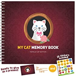MY CAT MEMORY BOOK - Cute and Funny Keepsake Booklet for Proud Pet Owners. Female Cat Edition!