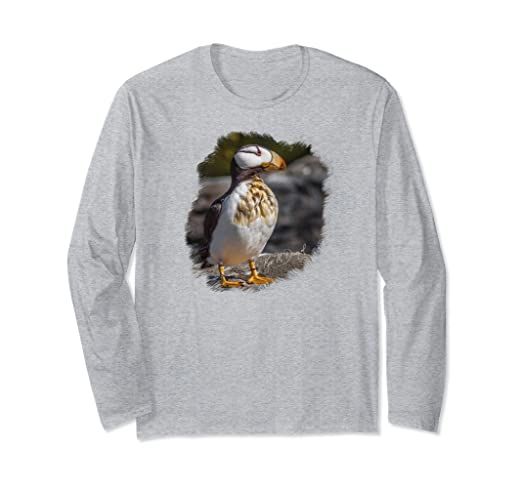 Puffin on Rocks Long-sleeved T-Shirt