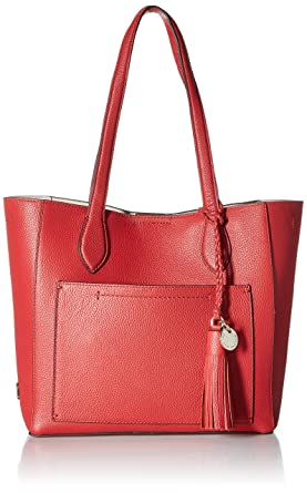 Cole Haan Piper Small Leather Tote Bag Barbados Cherry Handbags