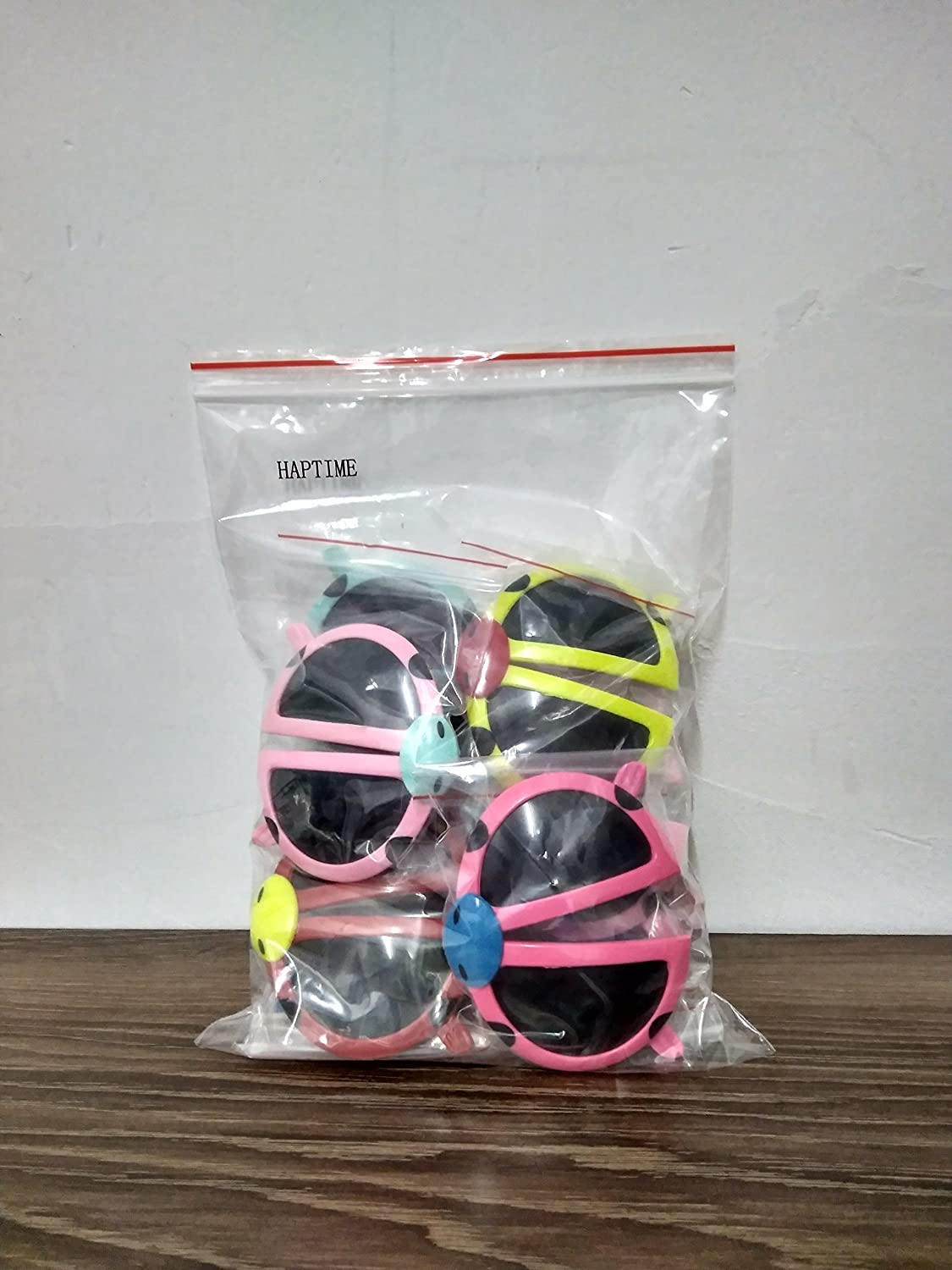 Pack of 8 Colorful Sunglasses Toy Assorted Plastic Foldable Shade Glasses with Dark Lens for Children Boys Kids Party Favors Bag Fillers HAPTIME