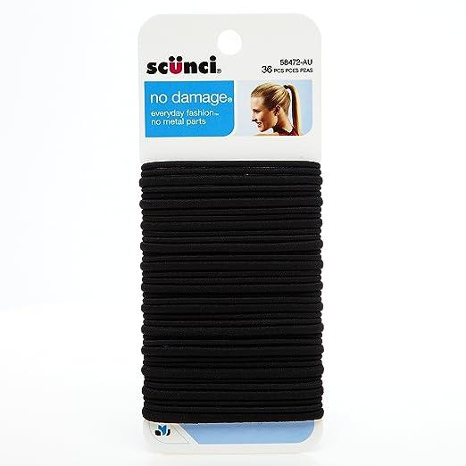 Scunci No Damage Assorted Size 4mm & 2mm Elastics, 36 Count