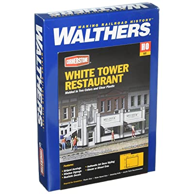 "Walthers, Inc. White Tower Restaurant Kit, 4-5/8 X 3 X 2-7/8"" 11.8 X 7.6 X 7.3cm: Toys & Games"