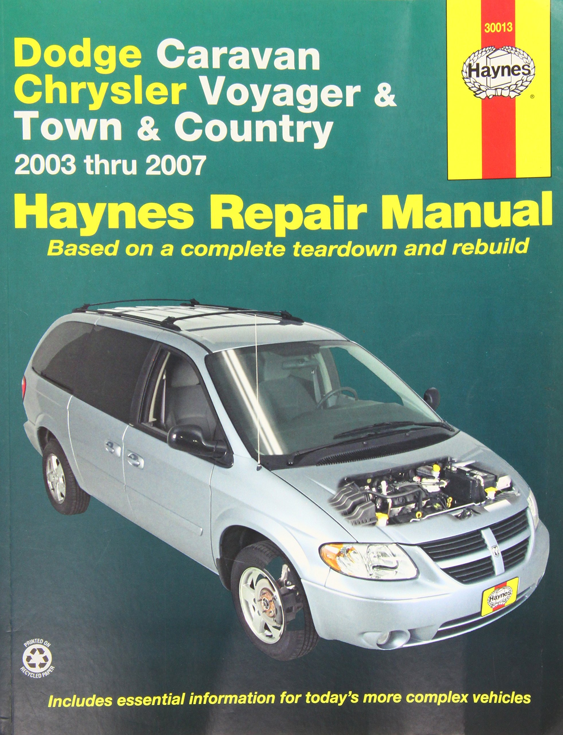 amazon com haynes 30013 repair manual 0038345300134 books rh amazon com 2003 Dodge Caravan Parts Diagram 2006 dodge caravan repair manual pdf