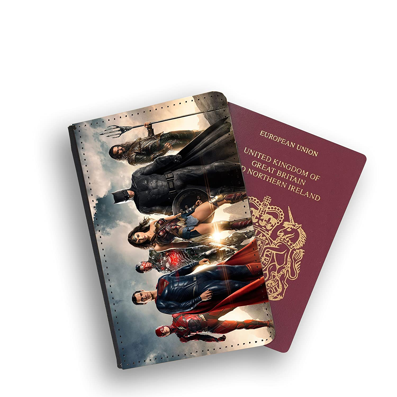 Justice League Team Dc Comics Passport Wallet Card Holder Boarding