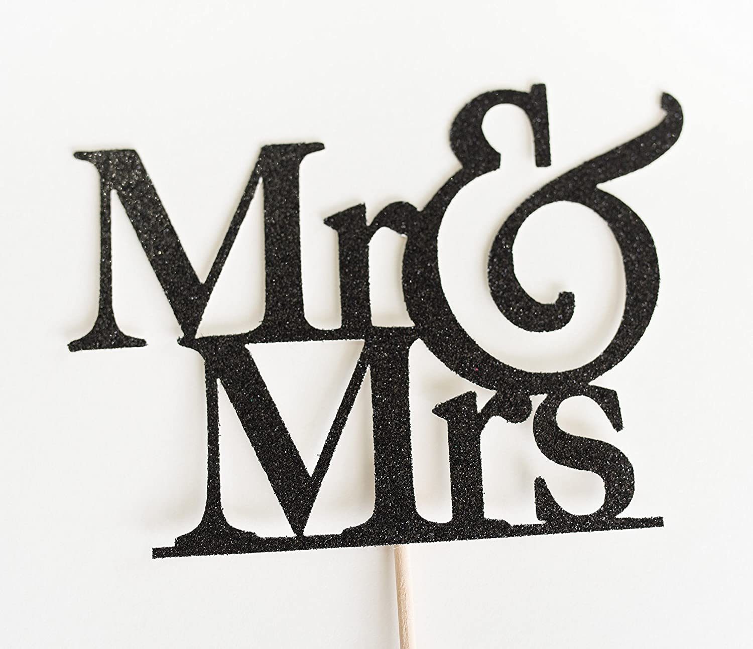 Black Glitter Mr & Mrs Wedding Cake Topper, and, Rehearsal dinner, engagement party