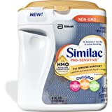 Similac Abbott Pro-Sensitive Non-GMO Powder Infant Formula with Iron with 2'-FL HMO for Immune Support 34 oz (Various Packs Available)