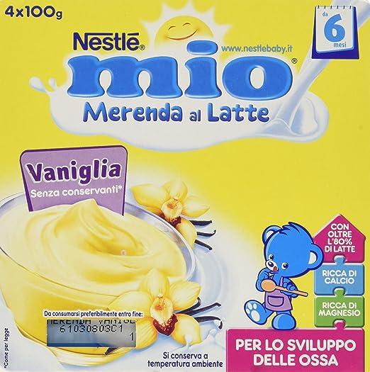18 opinioni per Nestlé Mio- Merenda al Latte Vaniglia, senza Glutine, da 6 Mesi- 3 confezioni da
