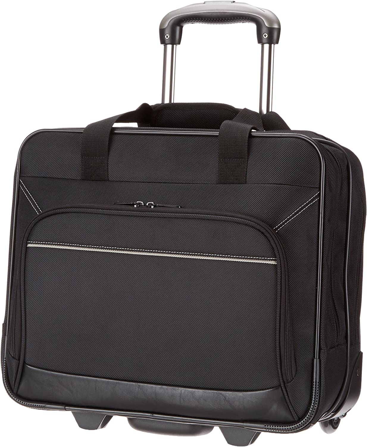 AmazonBasics Rolling Travel Bag Laptop Computer Case, 2-Pack
