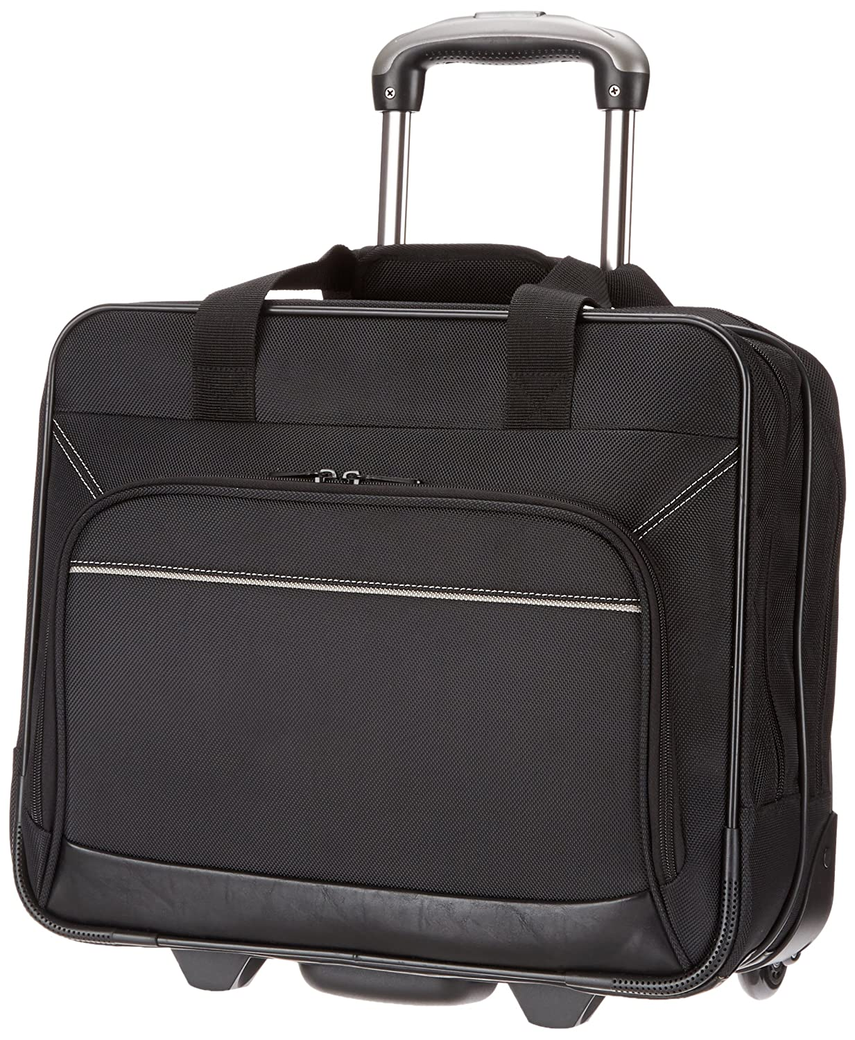 e7483b066e AmazonBasics Rolling Laptop Case on Wheels - Fits Most Laptops up to 16