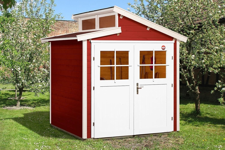 Weka Gartenhaus Größe 1 schwedenrot