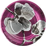 Madhouse by Michael Aram 8 Count Fine Paper Dessert Plates, Black Orchid