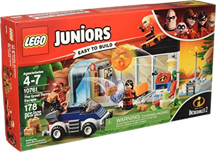2018! 10761 LEGO Juniors The Great Home Escape Incredibles 2 178 Pieces Age 4
