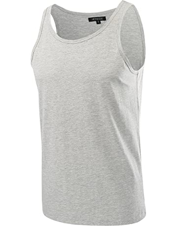 1ac2123c9a310 HETHCODE Men s Classic Basic Athletic Jersey Tank Top Casual T Shirts