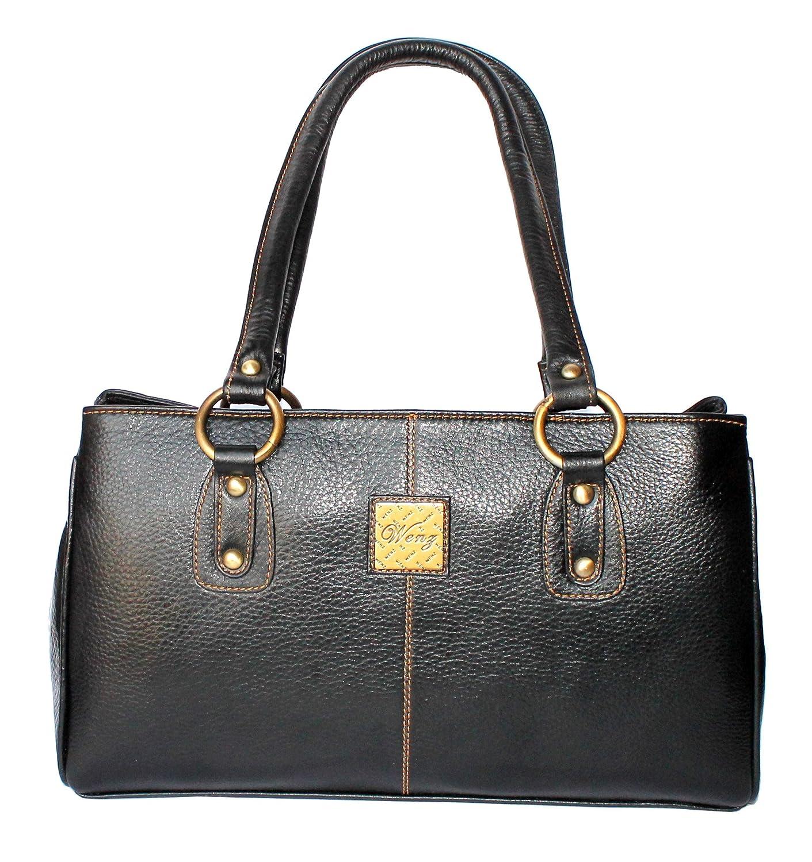 Amazon.com   Designer WENZ Branded Genuine Leather Ladies Handbag Shoulder  Baguette Bag   Cosmetic Tote Bags   Beauty 1393ecaf03897