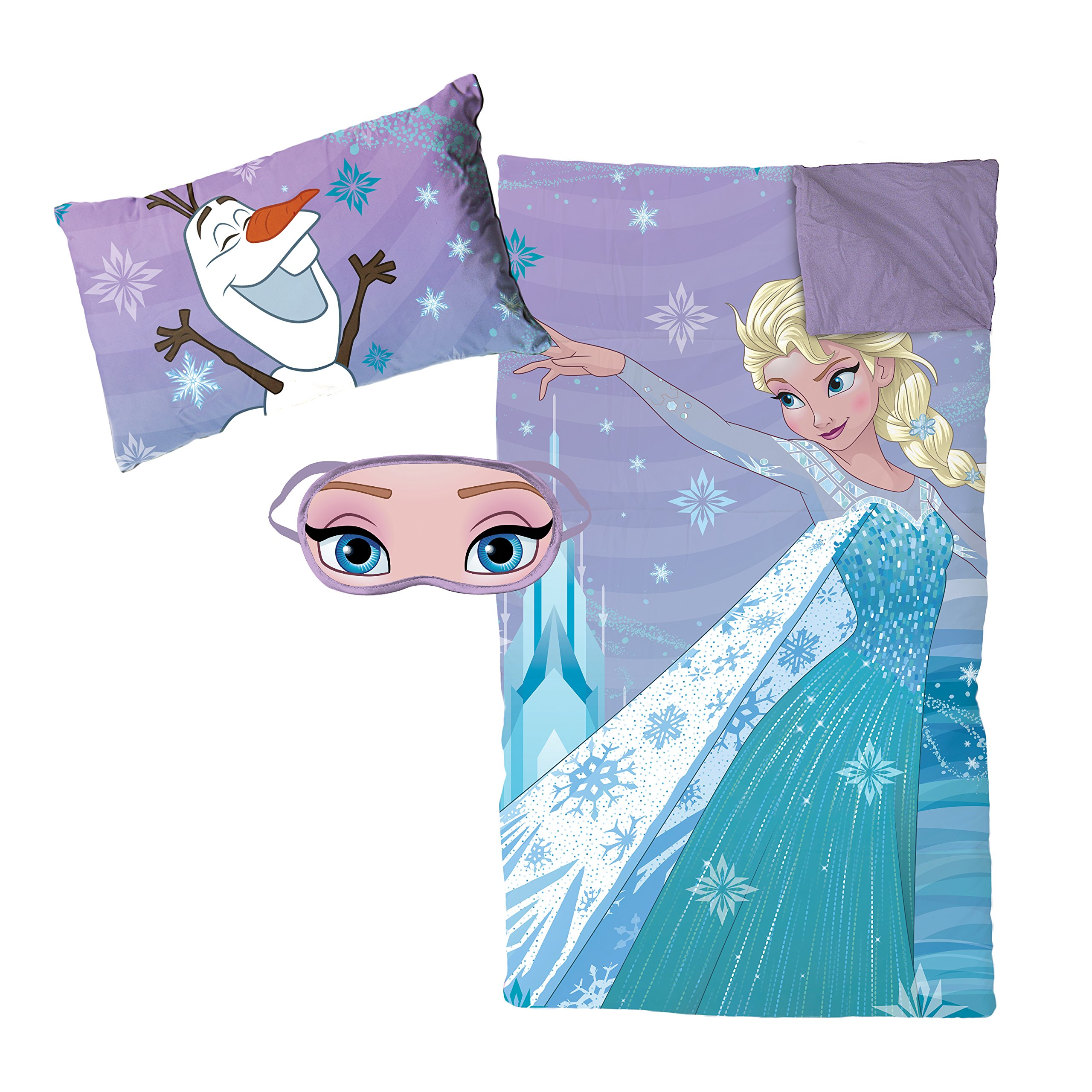 Disney Frozen Let It Go 3 Piece Plush Sleepover Set