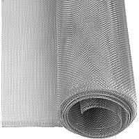 Windhager mosquitera, Tejido de Aluminio, Robusta, Resistente, Plateada