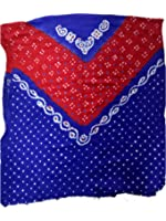 Kutchi Bandhani Dress Material Suit Piece Cotton Satin