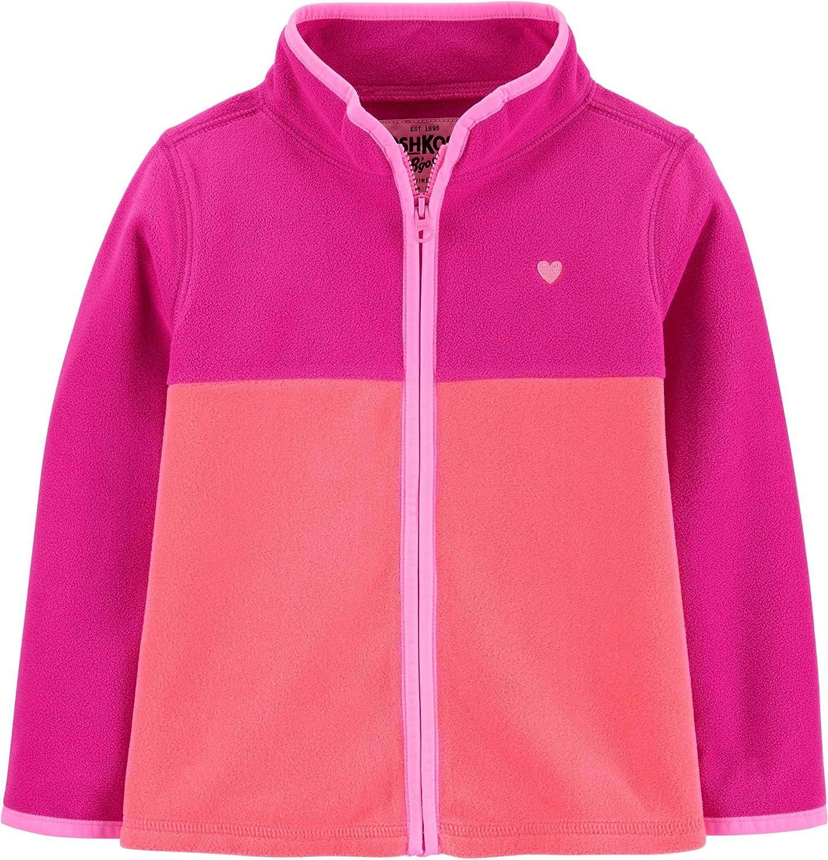 OshKosh BGosh Girls Fleece Zip-up Cozie Jacket