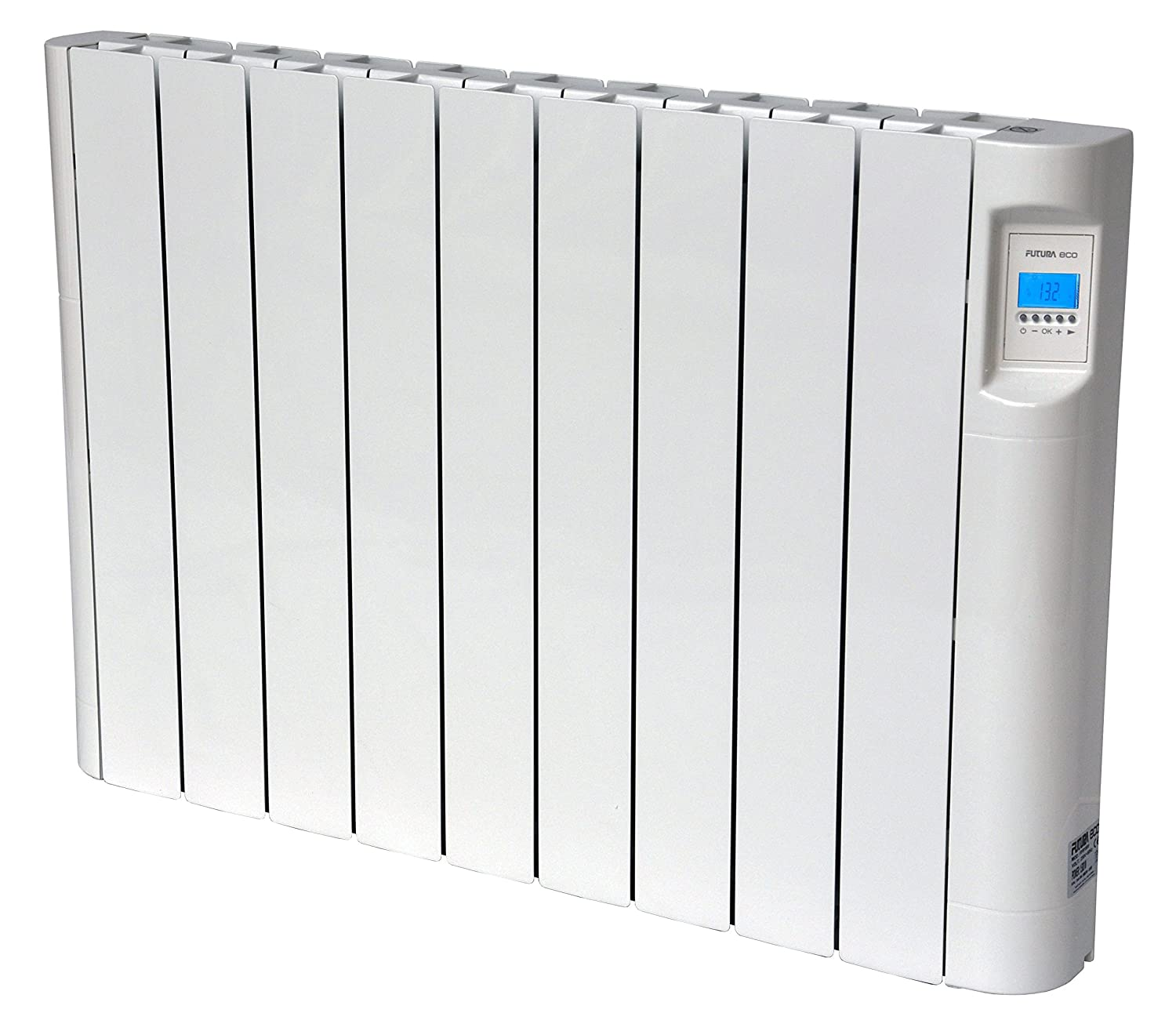 Slimline electric heaters wall mounted - Futura Eco 1500w Electric Wall Mounted Oil Filled Radiator Slimline 24 7 Timer Advanced Chrono Thermostat Lcd Screen Energy Efficent Thermal Heating