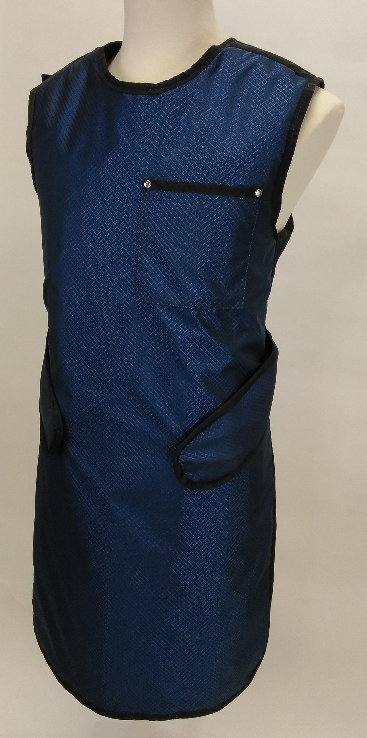 Lead Apron Zeus Lightweight Lead X-Ray Apron in Diamond Navy with Black Binding (Female) … (A Small Female 4/6, Diamond Blue) by USA XRAY (Image #1)