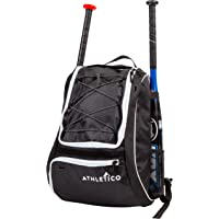 Athletico Baseball Bat Bag - Backpack for Baseball, T-Ball & Softball Equipment & Gear for Youth and Adults | Holds Bat…