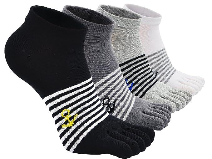 ZAKASA Mens Five Finger No Show Algodón Low Cut calcetines atléticos Running EU tamaño 38-44: Amazon.es: Ropa y accesorios